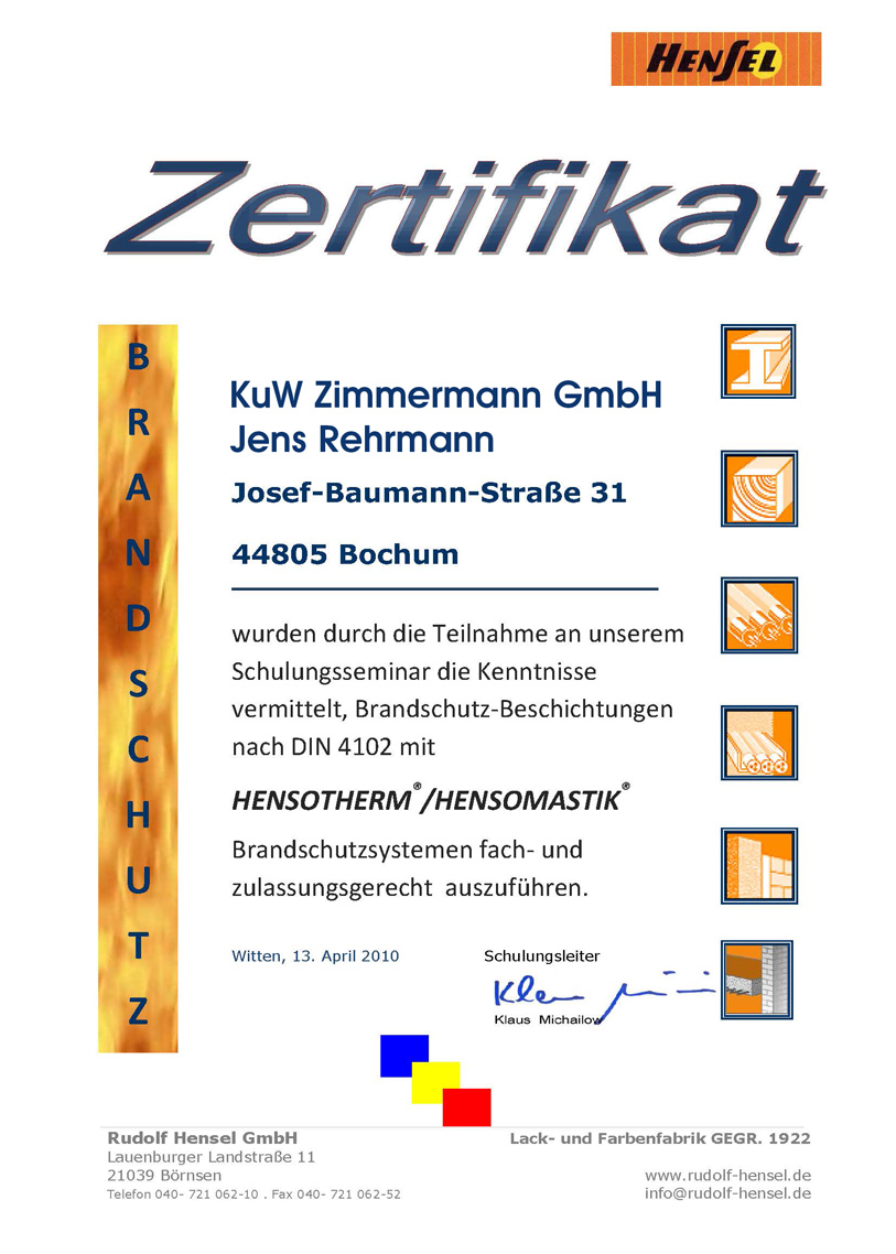 Brandschutz-Z